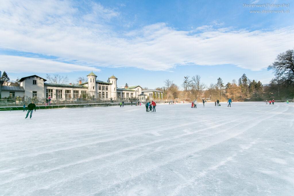 Eislaufen am Hilmteich