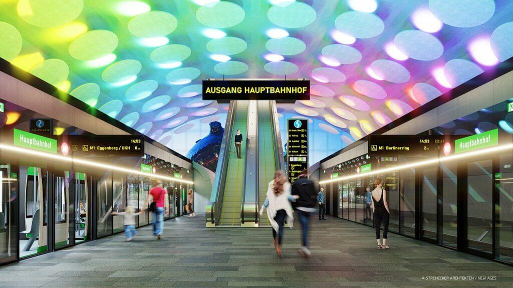 So könnten sich die Planer die Haltestelle Hauptbahnhof vorstellen