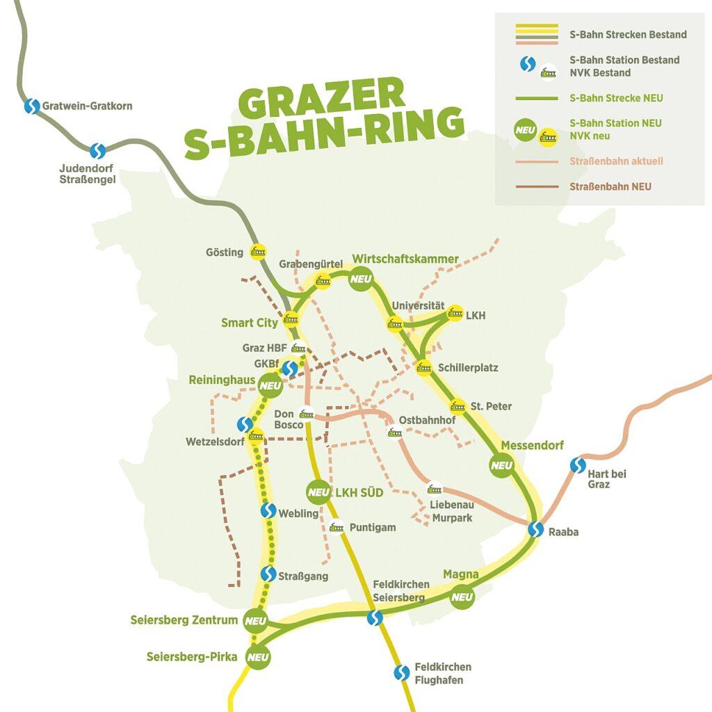Plan S-Bahn Ring Graz