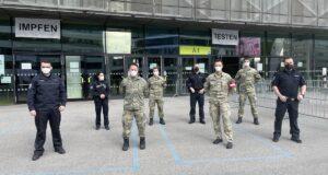 Bundesheer Testspuren Messehalle