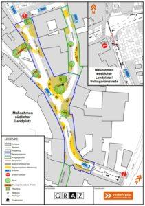 Verkehrskonzept Plan Lendplatz Mariahilferstrasse