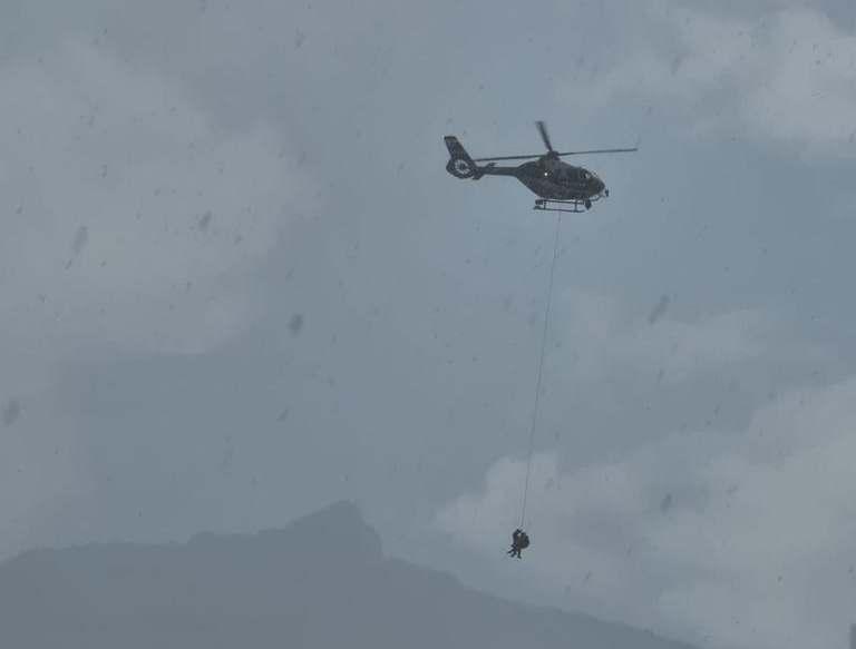 Bergsteiger Rettung Hubschrauber