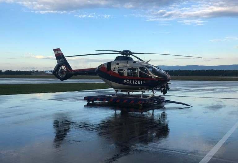 Erkundungsflug Flugpolizei Graz