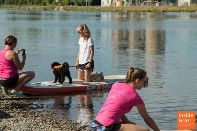 SUP mit Hund bei den River Days