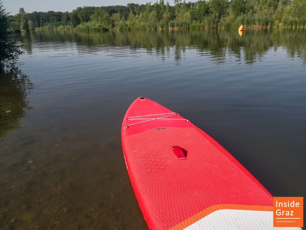 Stand Up Paddle Board in der Mur