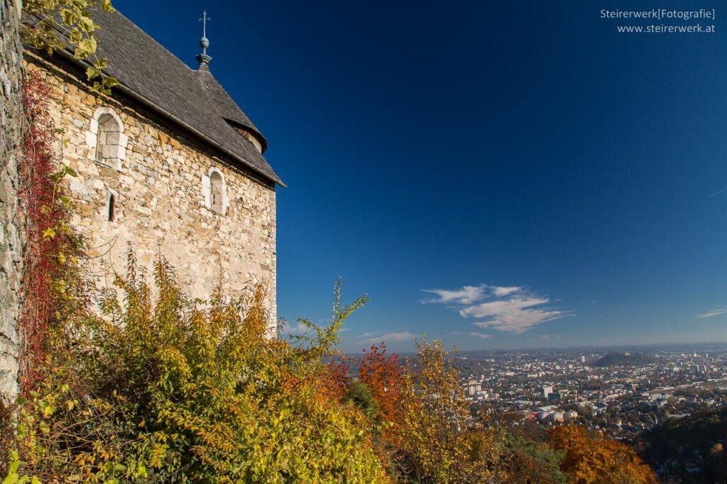 Burgruine Gösting Ausblick Graz