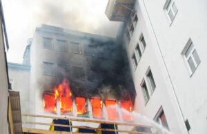 Brand in Grazer Innenstadt